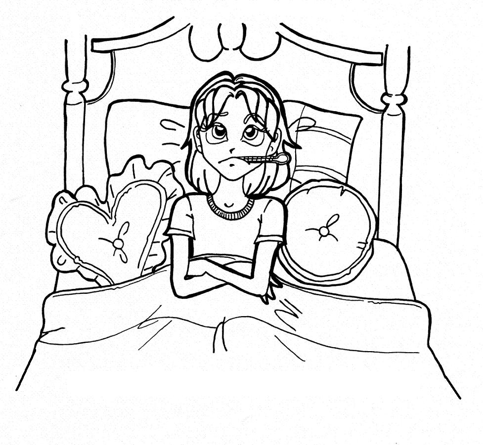 Free coloring pages of nikki maxwell for Sick coloring pages