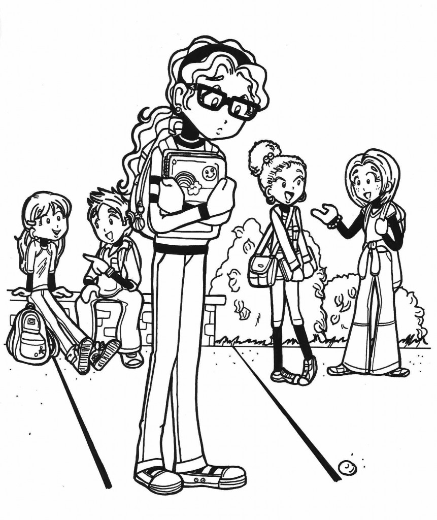 dork diaries 8 coloring pages - photo#16