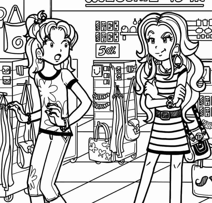 Dork Diaries Zoey Colouring Pages