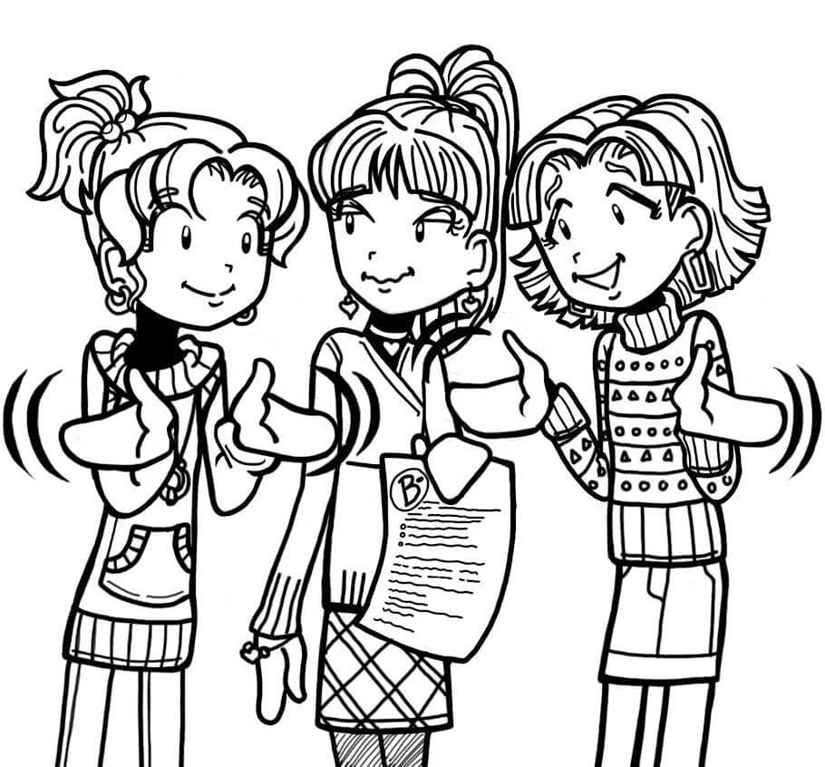 dork diaries 8 coloring pages - photo#13
