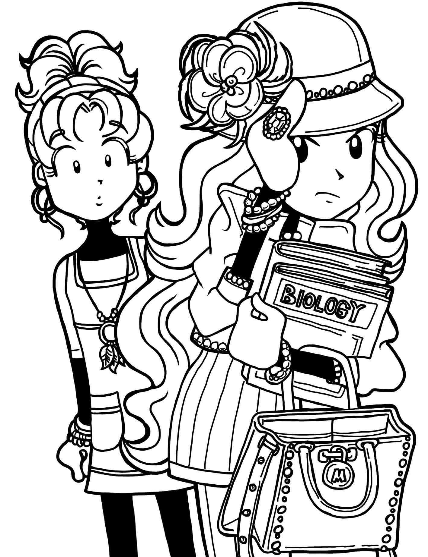 dork diaries 8 coloring pages - photo#33