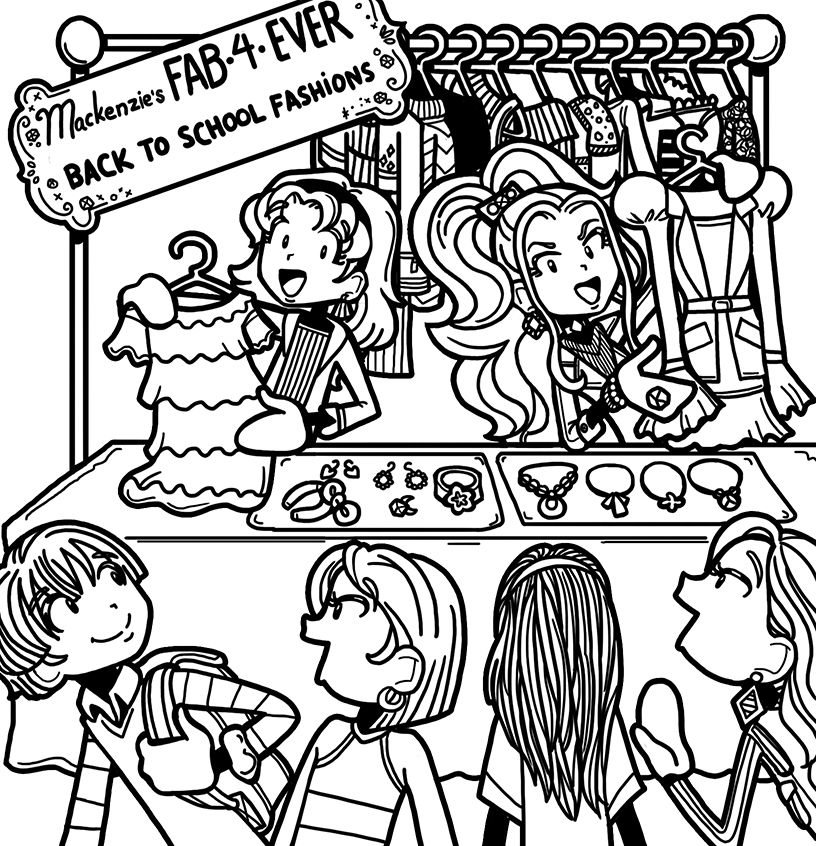 My brilliant marketing plan for mackenzie s fashion line for Dork diaries coloring pages online
